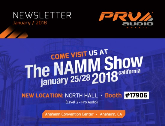 01 - PRV Audio -  January 2018 - NAMM Newsletter THUMBNAIL