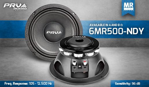 2X 6.5 PRV Audio 6MR500-NDY Neodymium Mid Range 8 Ohm 1000W Car Audio Speaker