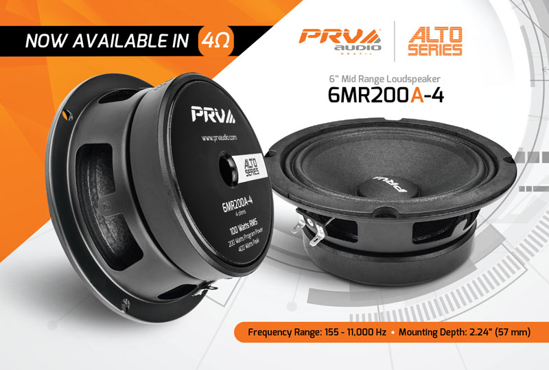 6MR200A-4 - Now-available-in-4-Ohms